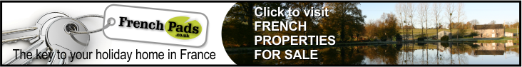 The key to your holiday home in France at www.FrenchPads.co.uk